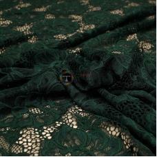 Гипюр набивной (тёмно-зеленый)