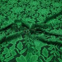 Гипюр набивной (зелёный)