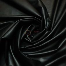 Кожзам на замше (чёрный матовый)