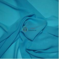 Одежный шифон однотонный (голубой)