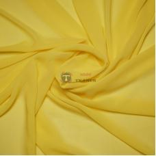 Одежный шифон однотонный (жёлтый)