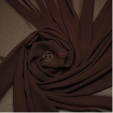 Одежный шифон однотонный (коричневый)
