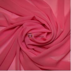 Одежный шифон однотонный (светло-малиновый)
