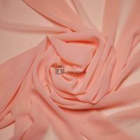 Одежный шифон однотонный (персиковый)