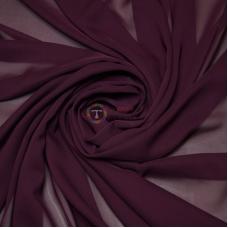 Одежный шифон однотонный (сливовый)