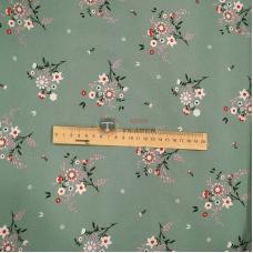 Супер софт принт (цветы на оливковом фоне)