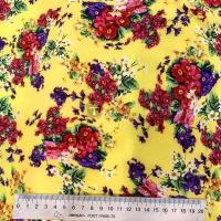 Супер софт принт (букеты цветов на желтом фоне)