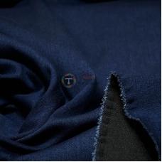 Джинсовая ткань деним стрейч  (темно-синяя)