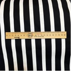 Поплин, тонкий стрейч коттон принт (черные и белые полосы)
